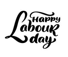 Glückliches 1. kann Vektorhintergrund beschriftend. Labor Day Logo-Konzept mit Schlüsseln. Illustration der internationalen Arbeitskräfte Tagesfür Grußkarte, Plakatdesign, lokalisiert auf weißem Hintergrund