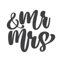 wedding words Mr. and Mrs