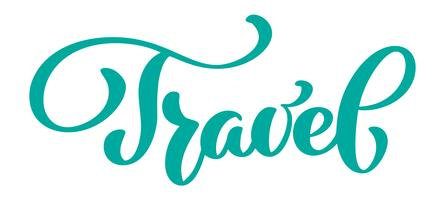 Travel text vector