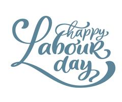 Happy 1st may lettering vector background. Labour Day logo concept with wrenches. International Workers day illustration for greeting card, poster design, Isolated on white background