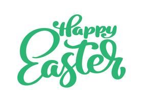 Hand drawn happy Easter calligraphy and brush pen lettering