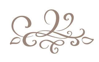 Hand drawn border flourish separator