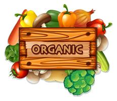 Organic vegetables and board