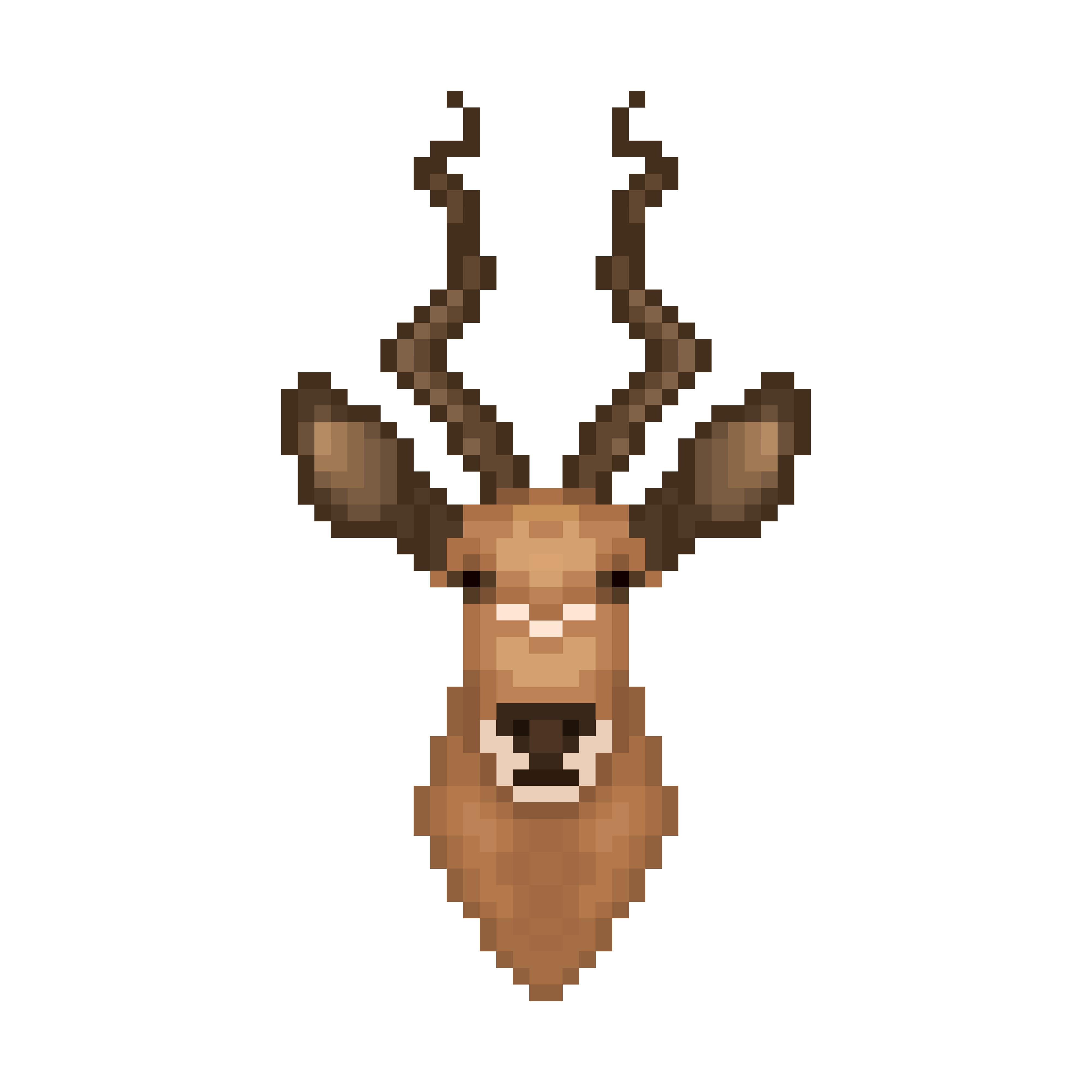 Tête D39antilope Dans Le Style Pixel Art Telecharger