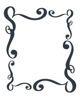 Decorative frames and border standard rectangle hand drawn flourish separator Calligraphy designer elements. Vector vintage wedding illustration Isolated on white background
