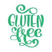 Gluten free. Hand drawn lettering phrase isolated on white background
