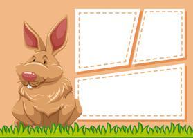 Een konijn op lege notitie
