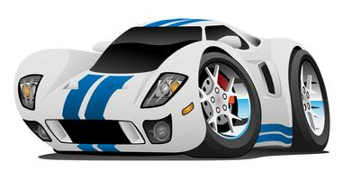 Super Car Cartoon Vector Illustratie