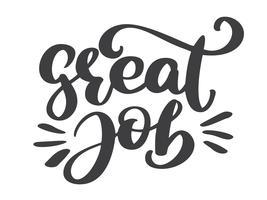 Great job card, banner vector
