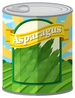 Asparagus in aluminum can