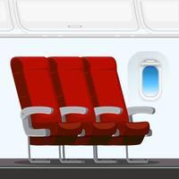 Un asiento de avión interior.