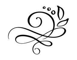Separatore di bordo fiorito disegnato a mano