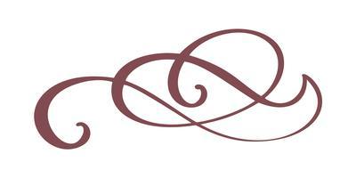 Hand gezeichnete Grenze Flourish Separator Kalligraphiedesignerelemente. Vektorweinlesehochzeitsillustration lokalisiert auf weißem Hintergrund