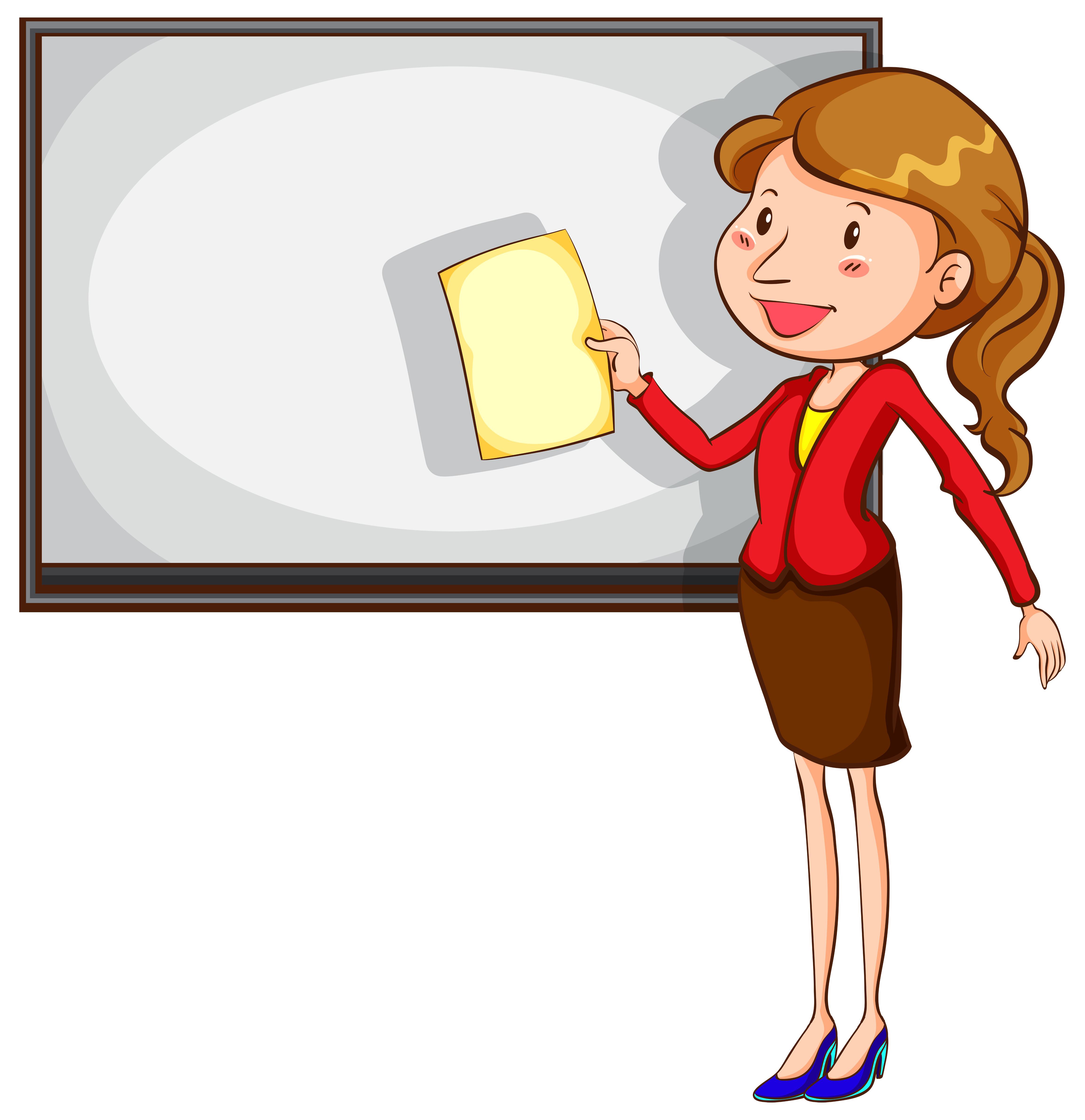 Woman Teaching Cartoon Clipart Vector - FriendlyStock | Cartoon clip art,  Teacher cartoon, Cartoon