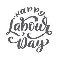 Feliz primero puede poner letras de vectores de fondo. Concepto de logotipo Día del Trabajo con llaves. Ilustración del día internacional de los trabajadores para la tarjeta de felicitación, diseño de carteles, aislado sobre fondo blanco
