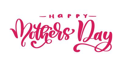 happy mothers day Hand drawn lettering quotes. Vector t-shirt or postcard print design, Hand drawn vector calligraphic text design templates, Isolated on white background