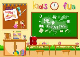 Kindergarten Klassenzimmer ohne Kinder