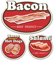 Meat product with bacon and salami