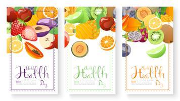 Raccolta di frutta per la giornata mondiale della salute.