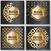 Gold banner background flyer style Design Template