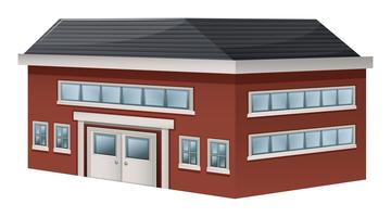 Building design for storage warehouse vector
