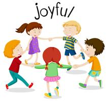 English vocabulary word of joyful