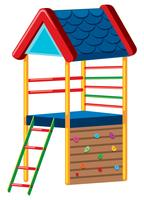 A colourful playground house on white background