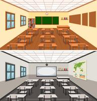 Fondo de aula vacio moderno