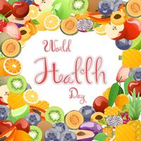 Recolección de frutas para el día mundial de la salud.