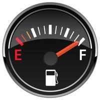 Gas Fuel Automotive Dashboard Gauge Vector