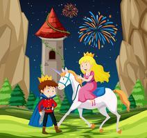 Scène prince et princesse