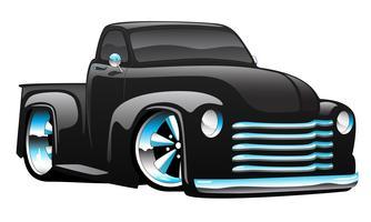 Hot Rod Pickup Truck Cartoon Vector Illustration