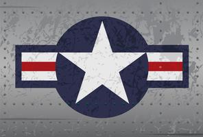 Militärflygplan Star Roundel Distressed Illustration