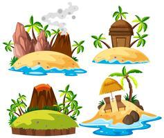 Set der isolierten Insel