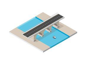De brugbrug van de stedelijke infrastructuur is dat wel