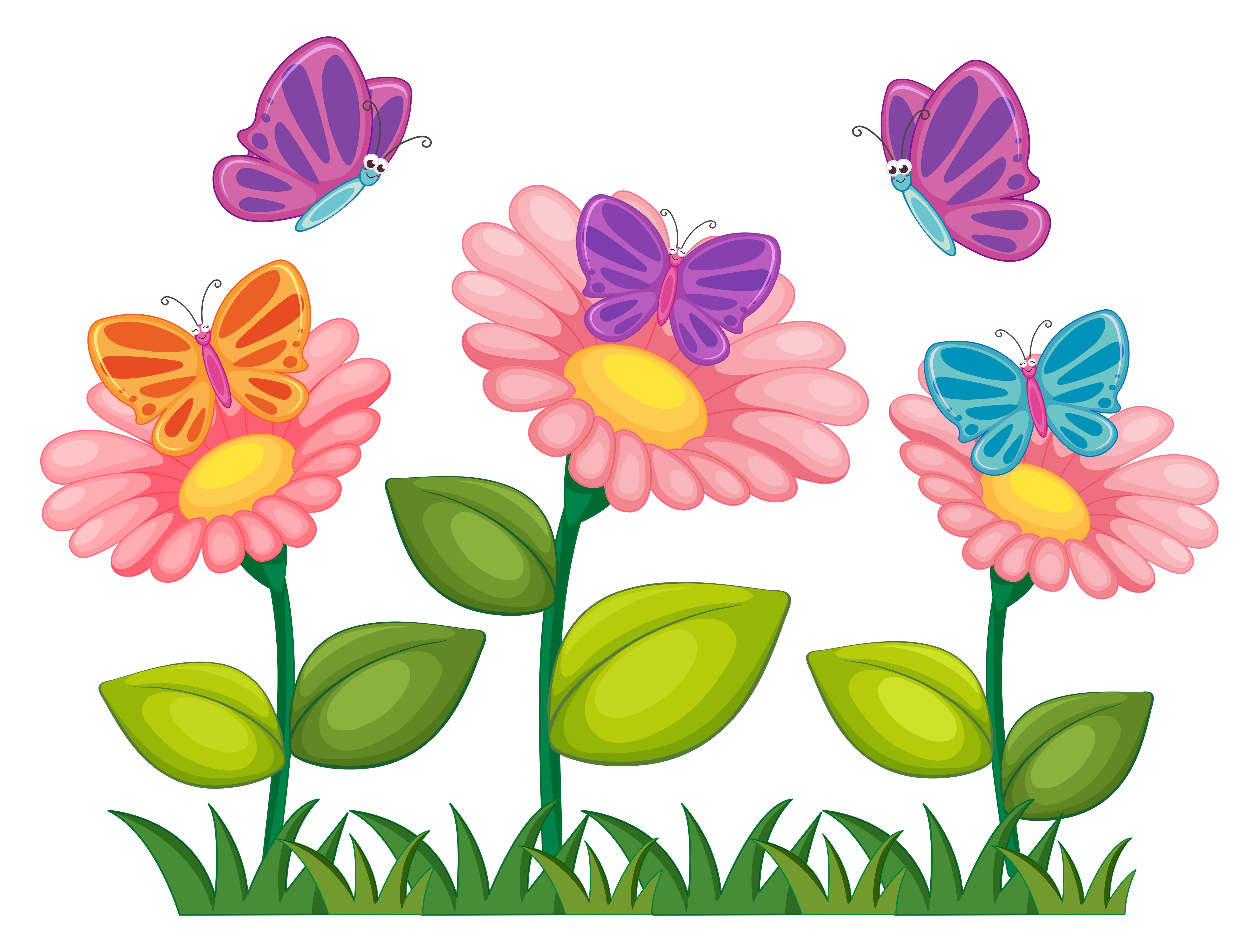 Fiori Bianchi Che Volano.Farfalle Che Volano Nel Giardino Fiorito Scarica Immagini