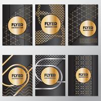 Folheto de ouro fundo flyer estilo modelo de design
