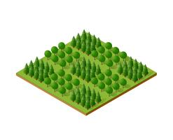 Isometric 3d trees skog camping naturelement