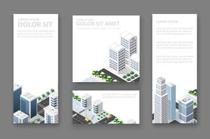 Set business card template. For real estate vector