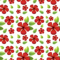 Seamless background design with red flowers vector
