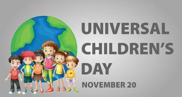 Affischdesign för universell barndag