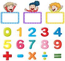 Molduras e números de molduras