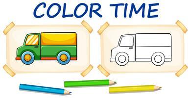 Kleurplaat voor vrachtwagens