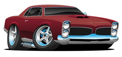 Illustration vectorielle de classique American Muscle Car Cartoon