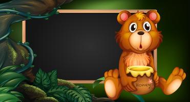 Bordontwerp met beer in bos