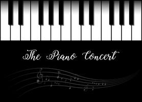 Background design with piano