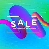 Sale Banner on Liquify and Fluid Shape Background
