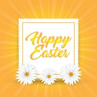 Easter background with daisies