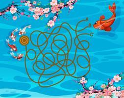 Jogo de labirinto de peixe koi