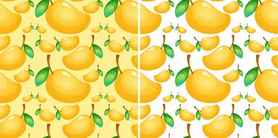 Seamless background with fresh mango vector